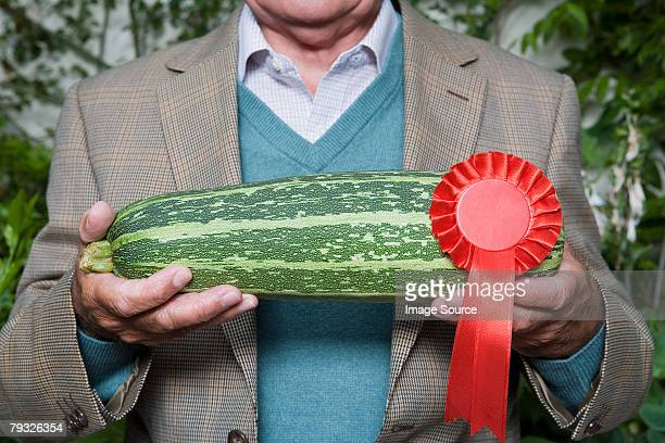 Man holding a winning marrow