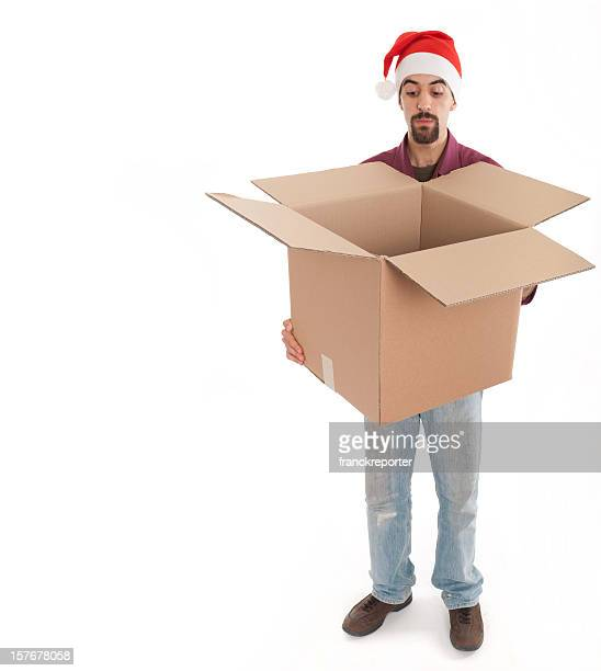 Man holding an empty big box package - Moving House