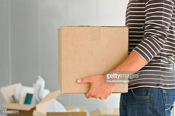 Man holding box