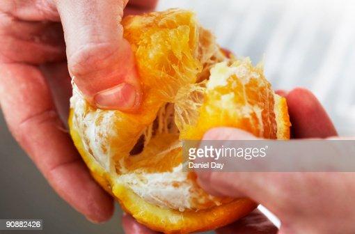 Man holding fruit : Stock Photo