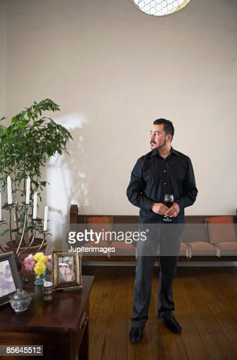 Man holding glass of wine : Stock Photo