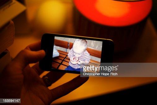 Man holding smartphone : Stock Photo
