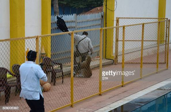 A man identified by Indian media as wildlife conservationist Sanjay Gubbi is attacked by a leopard at a private school on the outskirts of Bangalore...