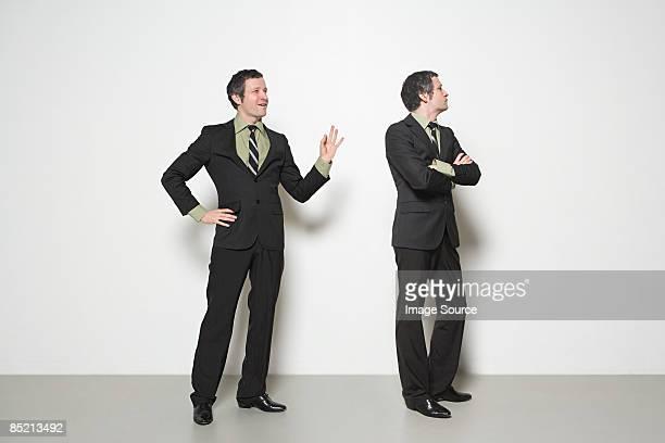 Man ignoring man