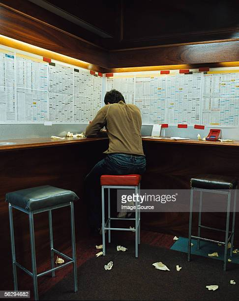 Man in a betting shop