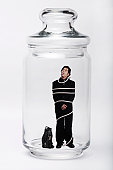 Man in a closed bottle