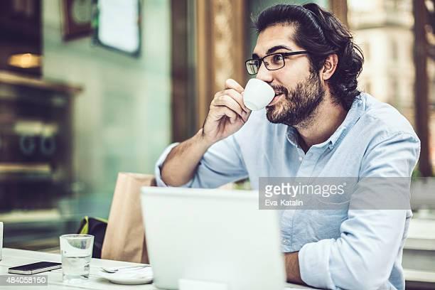Man in a coffee shop