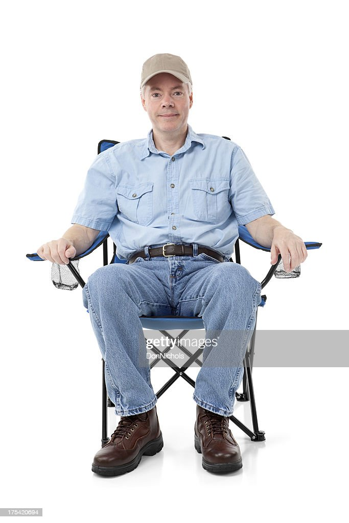 Man in a Folding Chair