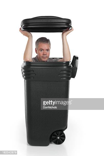 Man in a Garbage Can