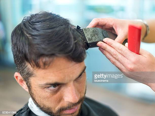 Man in a hair salon