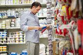 Man in a hardware storeMan in a hardware store