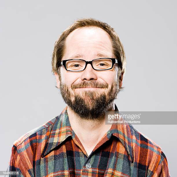 man in a plaid shirt