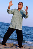 Man in a Tai Chi position