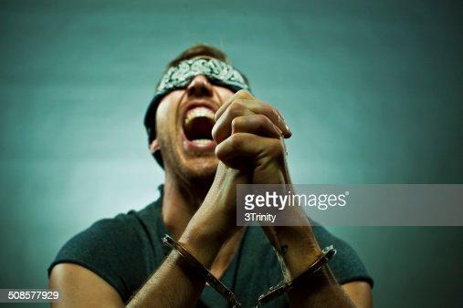 man in agony : Stock Photo
