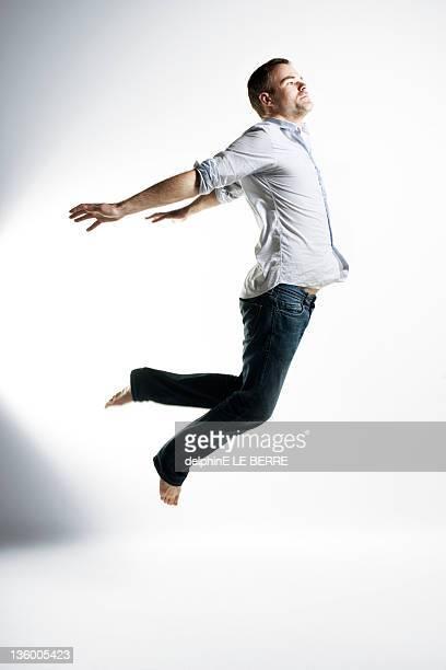 Man in air