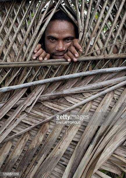 Man in Alotau Papua New Guinea on October 03 2009