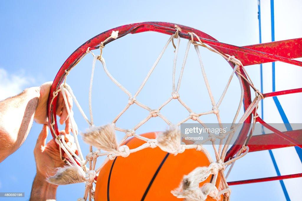 man in basketball field : Stock Photo