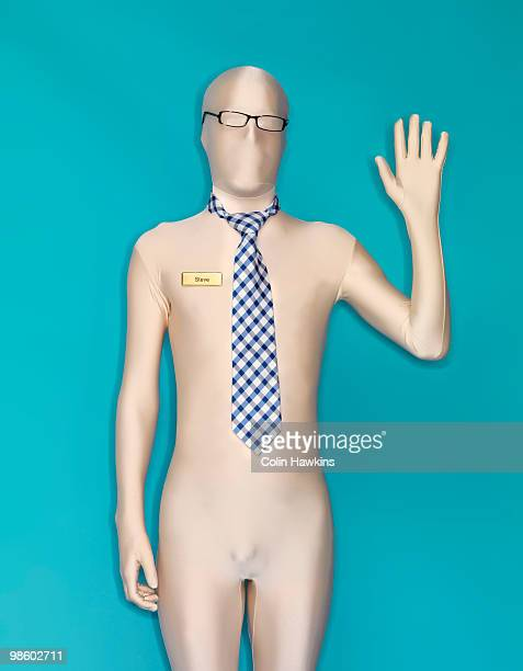 man in body suit waving