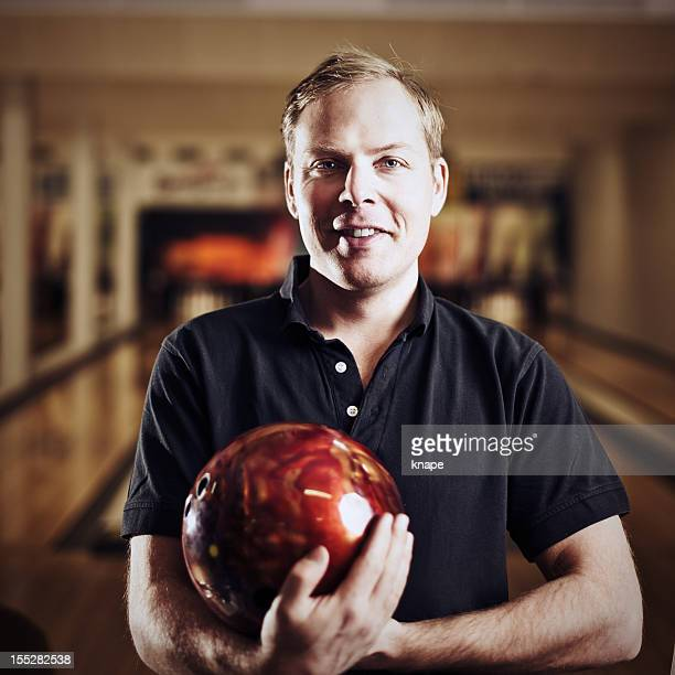 Man in bowling alley