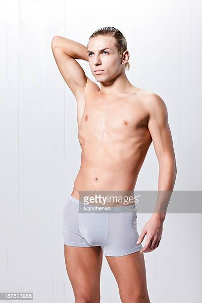 Man in boxers