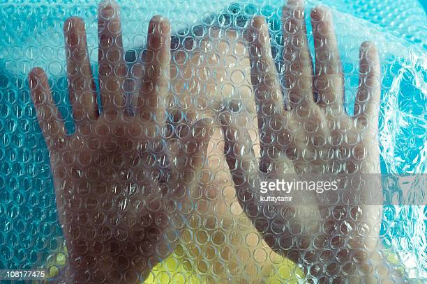 Man in Bubble Wrap