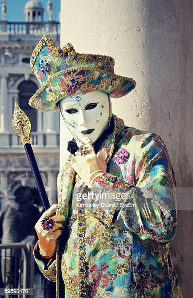 Man In Carnival Costume And Mask During Venice Carnival