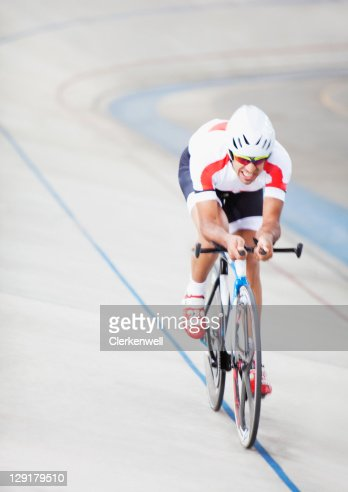 Man in cycling race