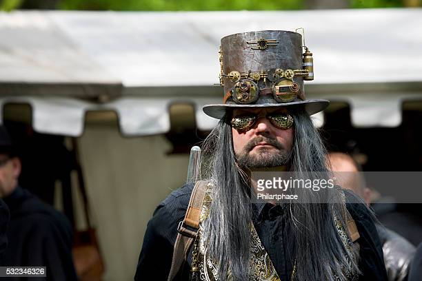 man in fantasy costume mad scientist on WGT Leipzig