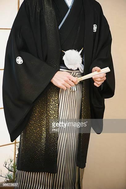 Man in formal kimono