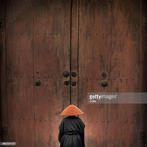 Man in front of the door