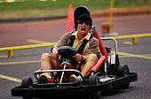 Man in Go-Kart
