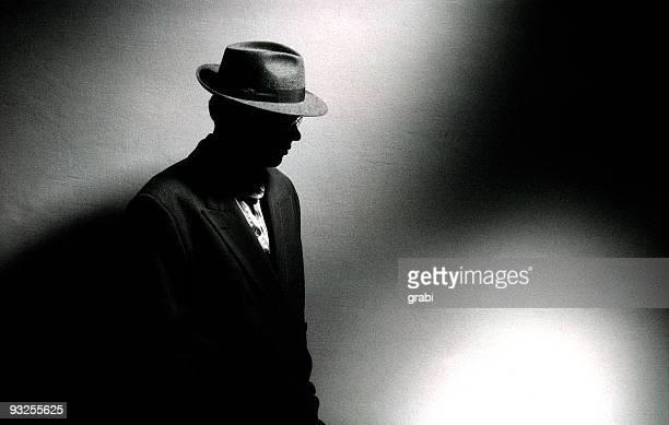 Mann in viel Licht