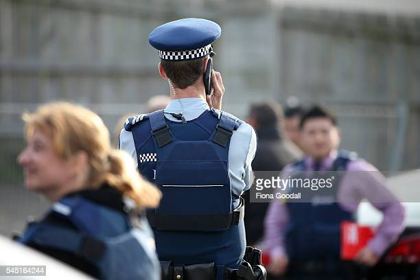 A man in his 20's has been arrested after an armed police incident at Henwood Street Mangere on July 6 2016 in Auckland New Zealand Police were...