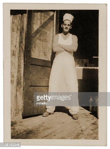 Man in his Workshop - Vintage