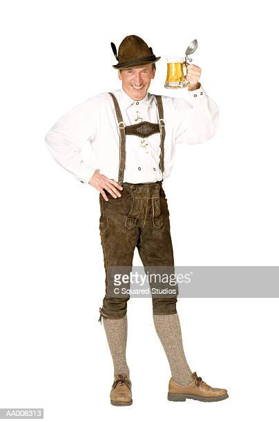 Man in Lederhosen with Beer
