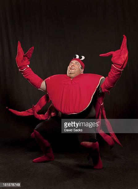 Man in lobster suit portrait