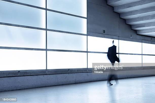 man in motion blur