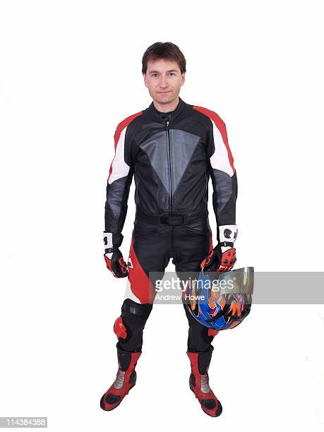 Man in Motorcycle Leathers
