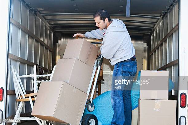 Man in moving truck