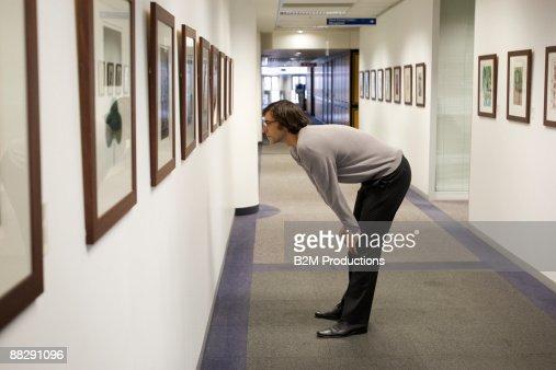 Man in museum : Stock Photo