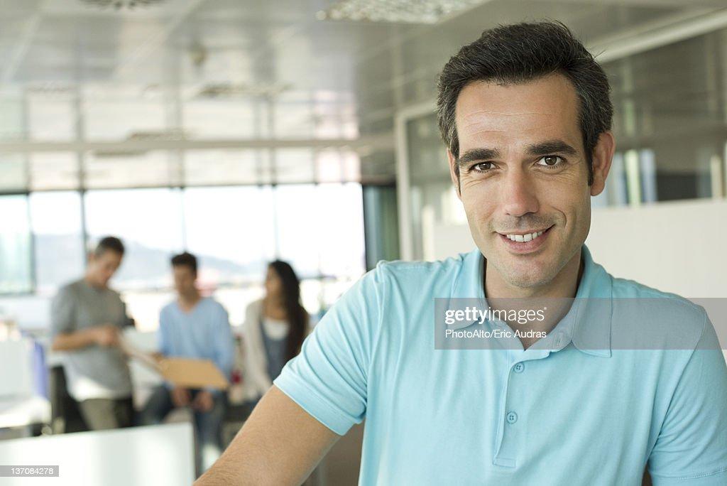 Man in office, portrait