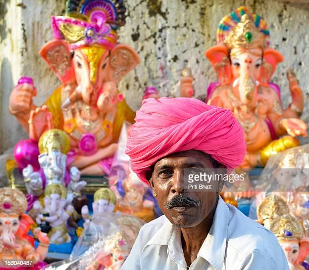 Man in pink turban