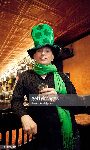 Man in Saint Paddy's Day Clothes.