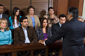 Attorney addressing jury
