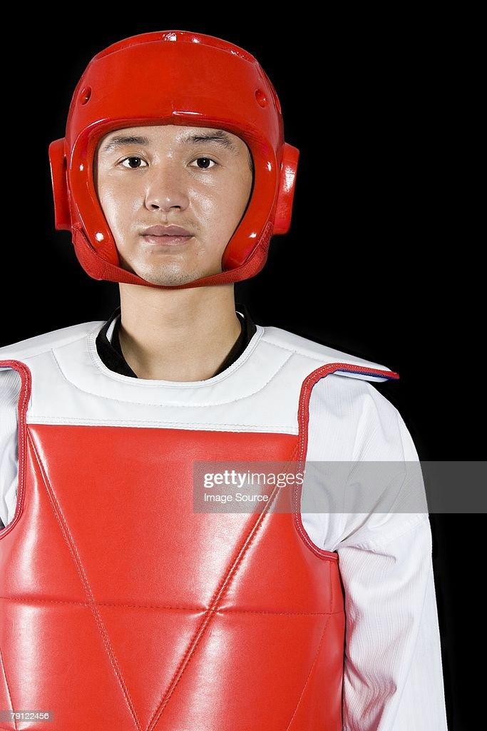 Man in taekwondo gear