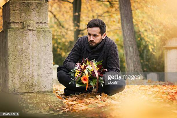 Man in the cemetery