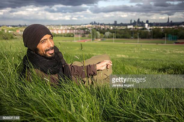 Man in the grass