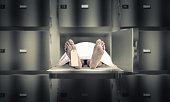 dead man in the morgue