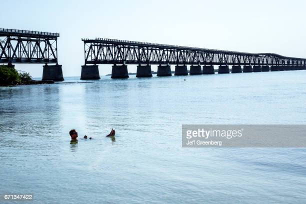 A man in the water at Bahia Honda State Park