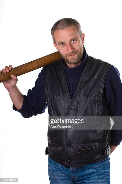 man in threat pose